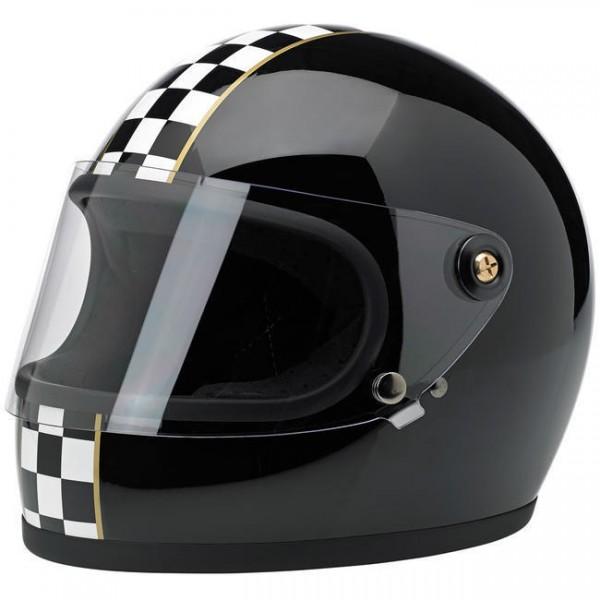 "BILTWELL - ""Gringo-S LE Checkered"" - black - with visor - DOT"