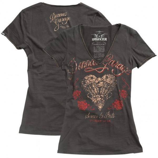 """ROKKER Women's T-Shirt - """"Shovel Heart"""" - black-brown"""