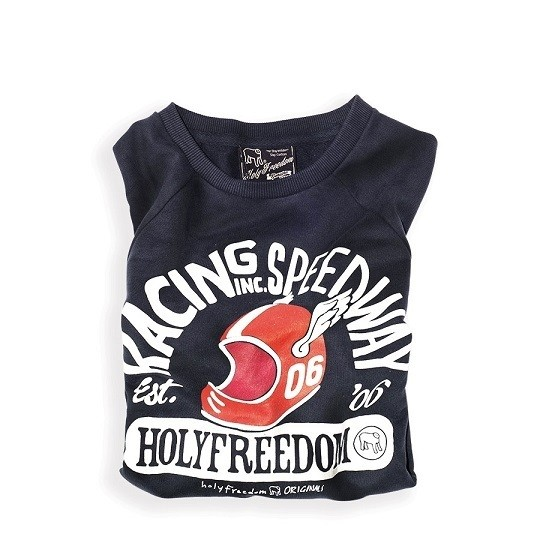 """HOLY FREEDOM Sweater - """"Speedway"""" - blue"""