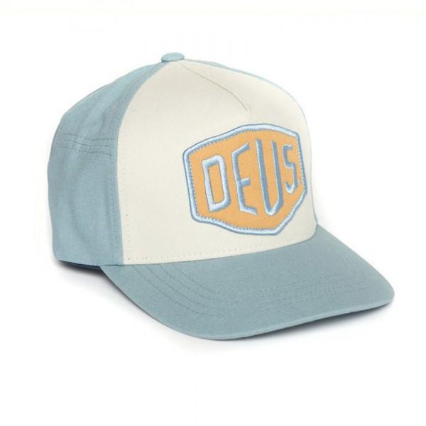 """DEUS EX MACHINA Hat - """"Colour Shield"""" - blue-grey"""