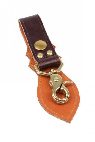 """VANSON LEATHERS Key Chain - """"Key Strap"""" - brown"""