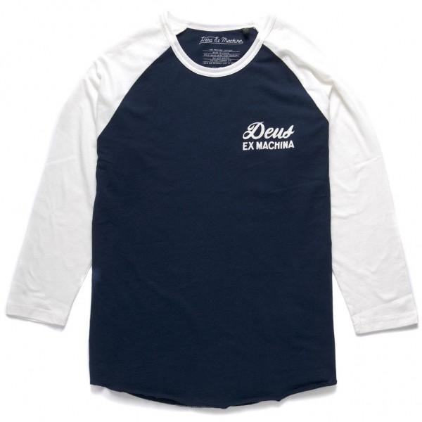 "DEUS EX MACHINA Raglan Shirt - ""Stack"" - blue & white"