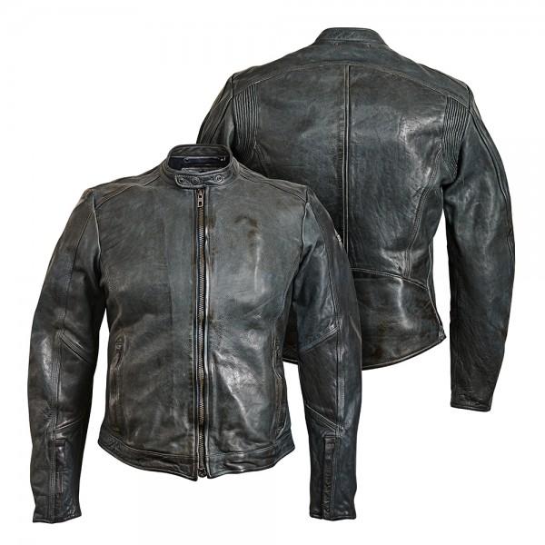 "ROKKER Jacket - ""Street Leather Jacket"" - grey"