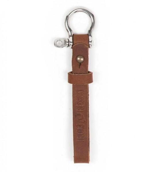 "IRON & RESIN Key Chain - ""Key Fob"" - brown"