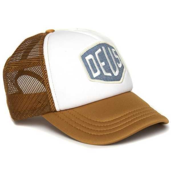 "DEUS EX MACHINA Hat - ""Colour Shield"" - tan & white"