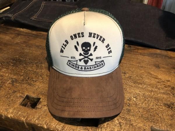 "KINGS & BASTARDS Hat - ""02/ 2018"" - grey, brown & green"
