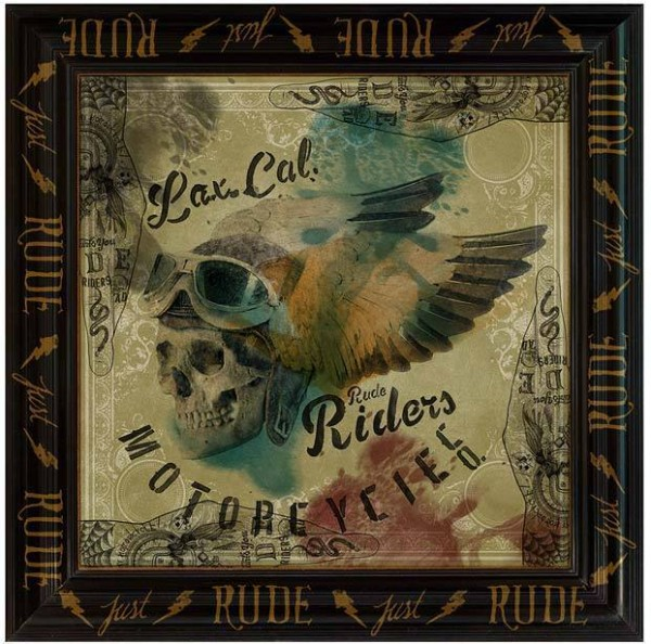 """RUDE RIDERS Scarf - """"M.C."""" - 140 x 130 cm"""