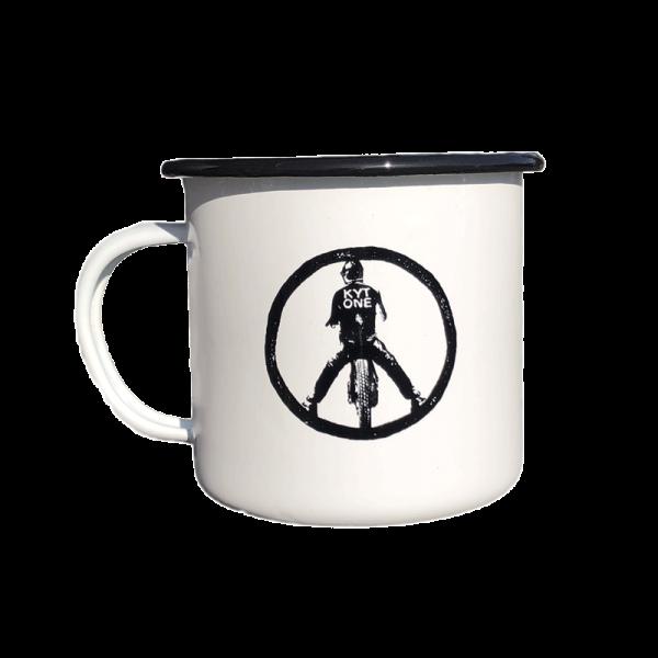 """KYTONE Mug - """"Peace"""" - black & white"""