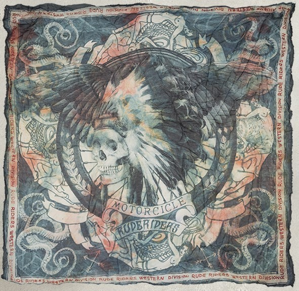 """RUDE RIDERS Scarf - """"Western Division"""" - 140 x 130 cm"""