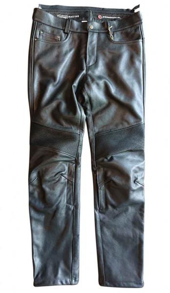 """MEINDL Leather Pants - """"Rebel 24 Cowhide"""" - black"""
