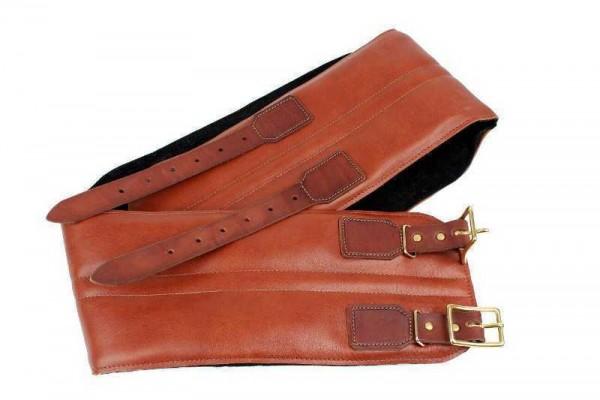 """24HELMETS Kidney Belt - """"Real Leather w. Brass-Buckles"""" - brown"""