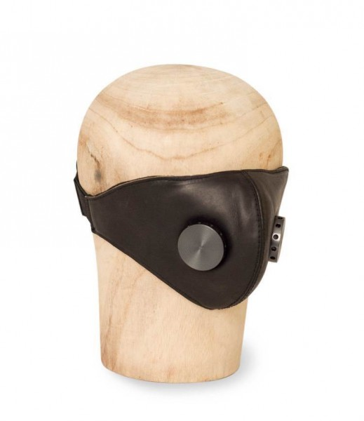 "HEDON Leather Face Mask - ""Hannibal"" - Black Hypno Gunmetal"
