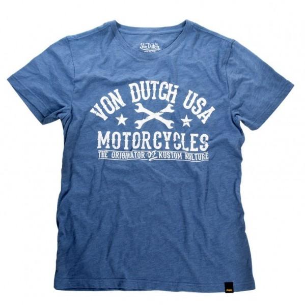 """VON DUTCH T-Shirt - """"Logo"""" - light blue"""