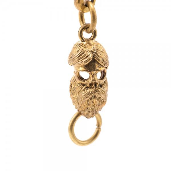 "SEVENTIES Keychain - ""Skull Beard"""