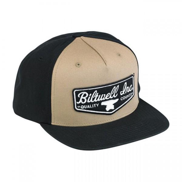 "BILTWELL Hat - ""Shield Trucker"" - black & beige"