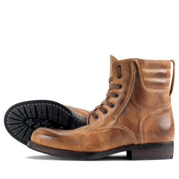 """ROKKER Boot - """"Urban Racer 8 inches"""" - motorcycle boots - light brown"""
