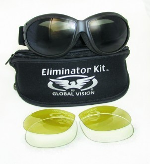 """GLOBAL VISION - """"Eliminator Kit"""" - goggles with interchangeable lens"""