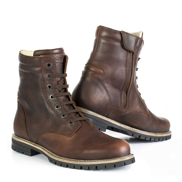"""STYLMARTIN Motorcycle Boots - """"Ace"""" - tan brown"""