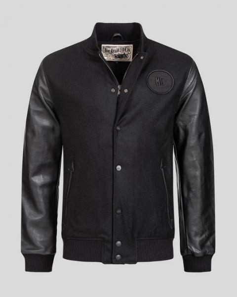 ROKKER College Jacket Wool black