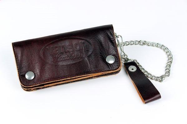 """VANSON LEATHERS Wallet - """"Wallet 2"""" - brown"""
