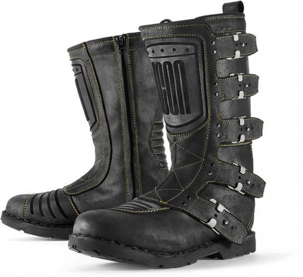 """ICON 1000 Motorcycle Boots - """"Elsinore CE"""" - black"""