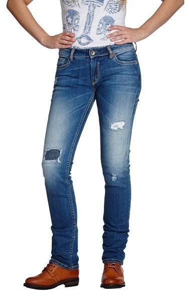 "ROKKER Women's Jeans - ""The Diva Distressed"" - blue"