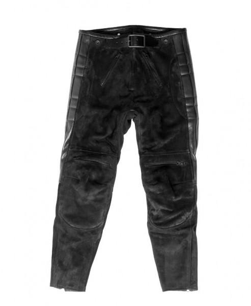 "EL SOLITARIO Leather Pants - ""Rascal Leather Motorcycle Pants"" - Nubuck black"
