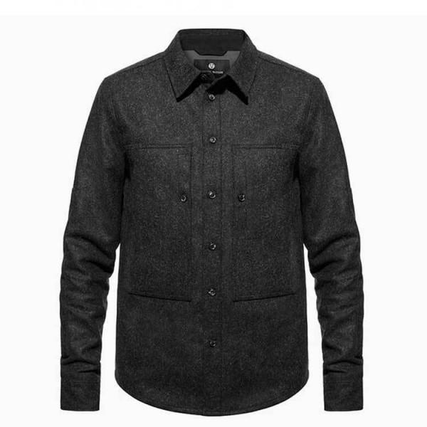 "ASHLEY WATSON Riding Shirt - ""Hockliffe Overshirt"" - charcoal"