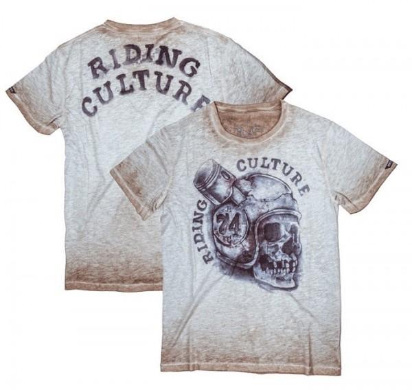 """ROKKER T-Shirt - """"Piston Head"""" - brown"""