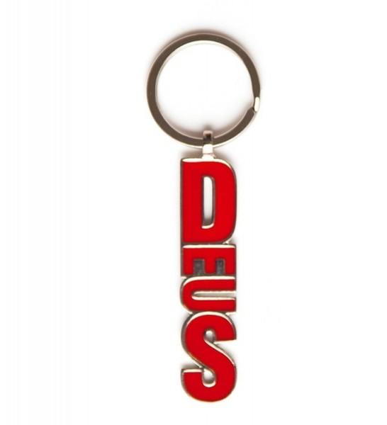 "DEUS EX MACHINA Key Chain - ""Blocker Keyring"" - red"