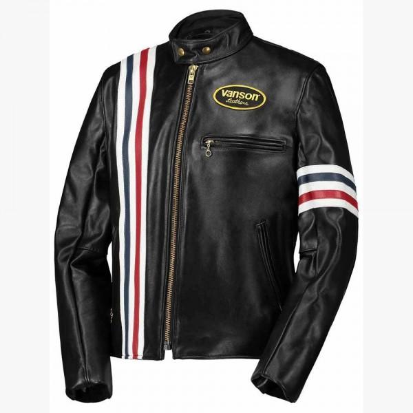 "VANSON Jacket - ""America"" - black"