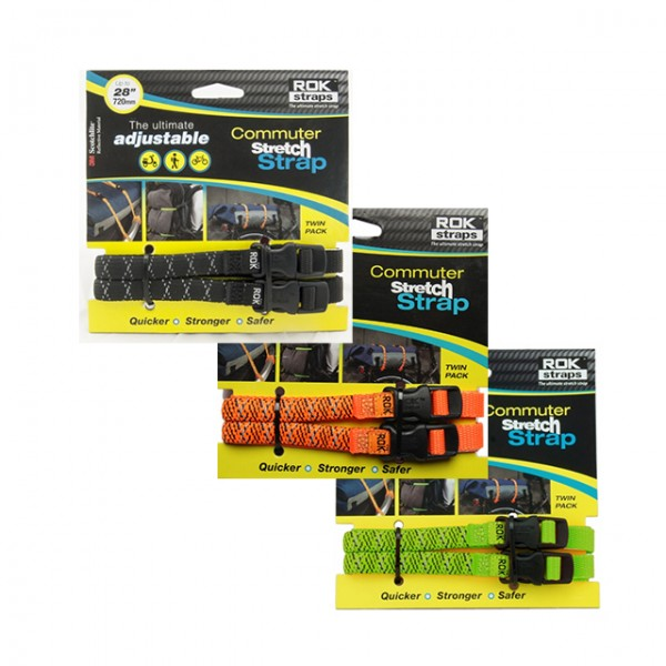 "ROK STRAPS Stretch Straps - ""Commuter Set"" - 1,2 x 72 cm"