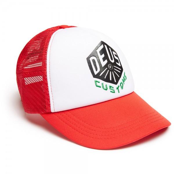 """DEUS EX MACHINA Hat - """"Skoot Trucker"""" - red & white"""