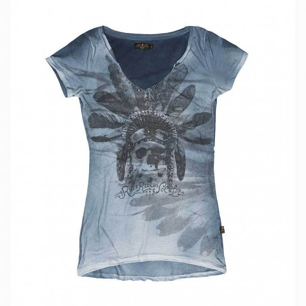 "RUDE RIDERS Women's T-Shirt - ""Indian SO. CAL."" - indigo"