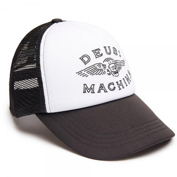 """DEUS EX MACHINA Hat - """"Curtis Trucker"""" - black & white"""