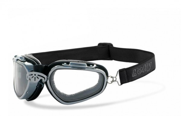 """HELLY BIKEREYES - """"Falcon"""" - chrome motorcycle goggles"""