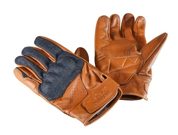 "ROKKER Gloves - ""Denim"" - brown"