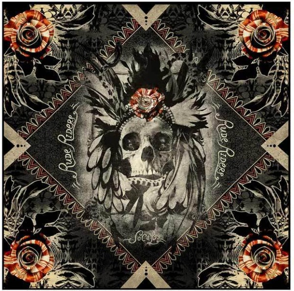"""RUDE RIDERS Scarf - """"Liberty Roses"""" - 140 x 130 cm"""