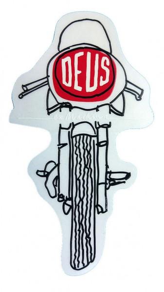 """DEUS EX MACHINA Sticker - """"Frontal"""" - clear"""