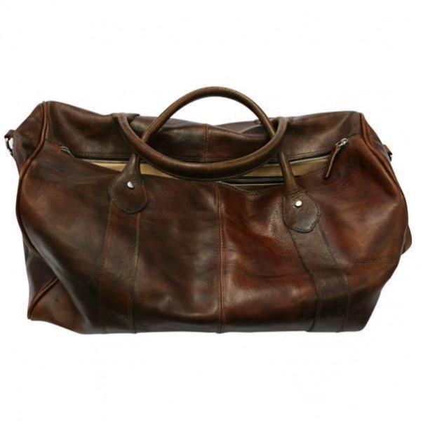 """ROKKER Bag - """"Duffle Bag"""" - dark brown"""