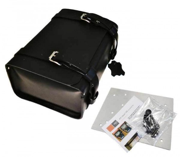 "UNITGARAGE - ""Rear Luggage Bag in Grain Leather nineT"" for BMW - black"
