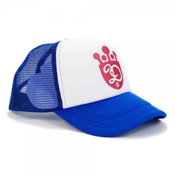 "DEUS EX MACHINA Hat - ""King D Trucker"" - royal blue & white"