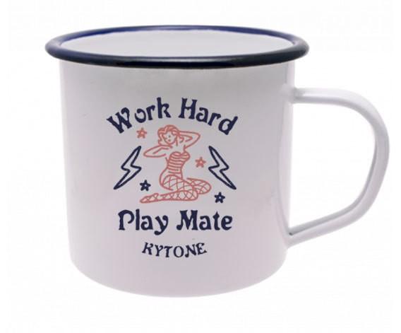 """KYTONE Mug - """"Play Mate"""" - white"""