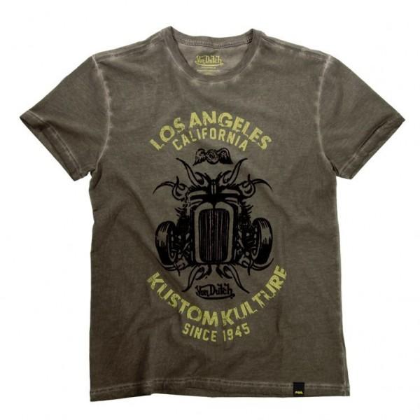 """VON DUTCH T-Shirt - """"Car"""" - olive"""