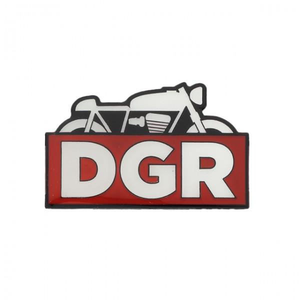 DGR Racer Pin in white