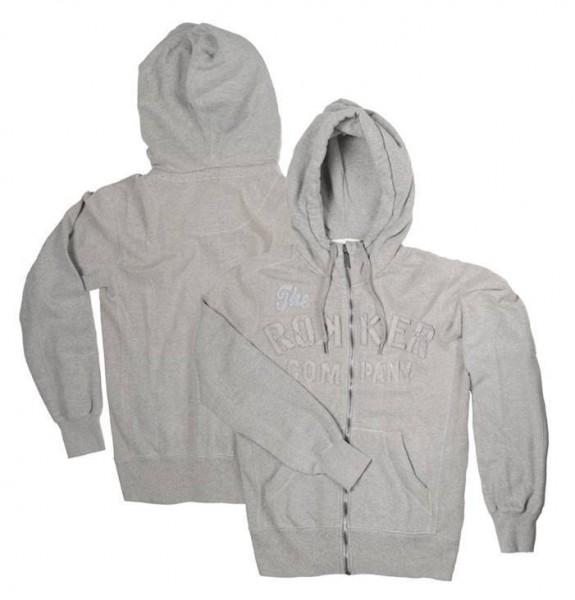 """ROKKER Men's Hoodie - """"TRC Zipper Grey"""" - grey"""