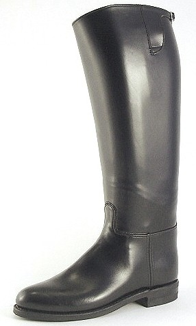 "DEHNER Patrol Boot - ""Dress"" - custom made motorcycle boots black"