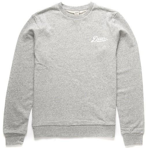 "DEUS EX MACHINA Men's Sweater - ""Diamond Logo Crew"" - grey"