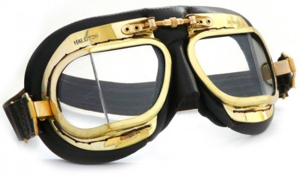 "HALCYON Goggles - ""Mark 49 Compact Antique"" - black"