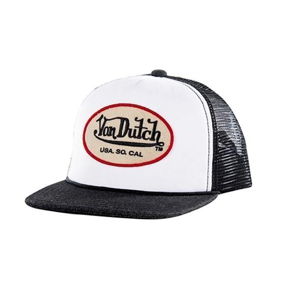 """VON DUTCH Hat - """"Originals"""" - white & anthracite"""